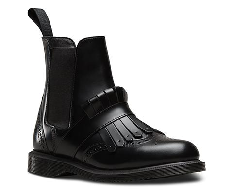 Womens Boots dr martens black tina brogue chelsea w kiltie polished smooth rm4y19q6