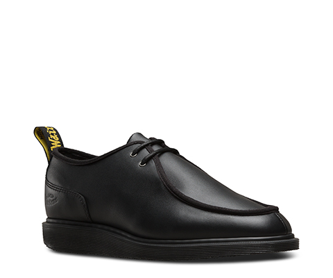 Dr.martens Hommes Leverton Softy T Chaussures En Cuir Noir 45 Eu e70ZemSZ