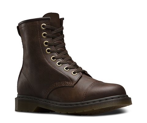 DR MARTENS MACE WYOMING MACE DARK BROWN POLISHED WYOMING GREASY SUEDE