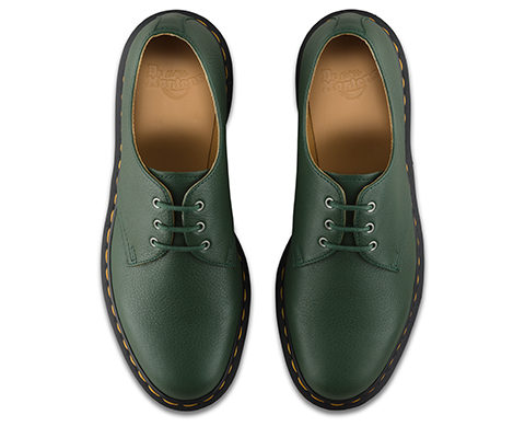 DR MARTENS 1461 HUG ME LEATHER 1461 SHOE GREEN HUG ME