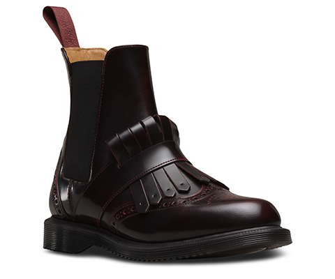 Dr. Martens Women's Tina Arcadia Leather Kiltie Chelsea Boots - Cherry Red - UK 4 Ke0UWI