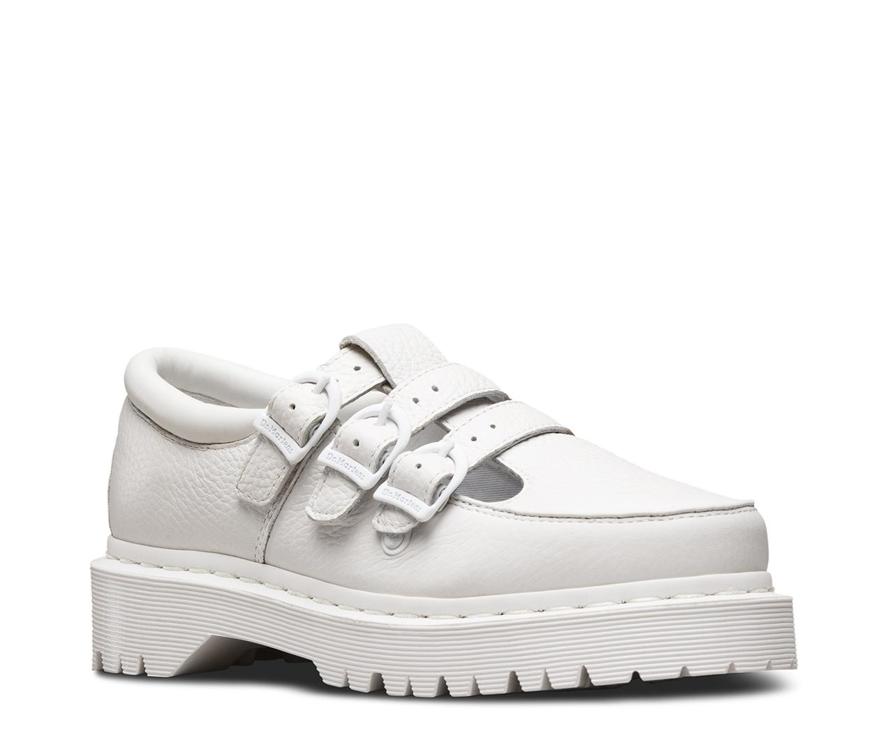 Dr.Martens Womens Freya Aunt Sally Black Leather Shoes 41 EU cZjBnv1wE
