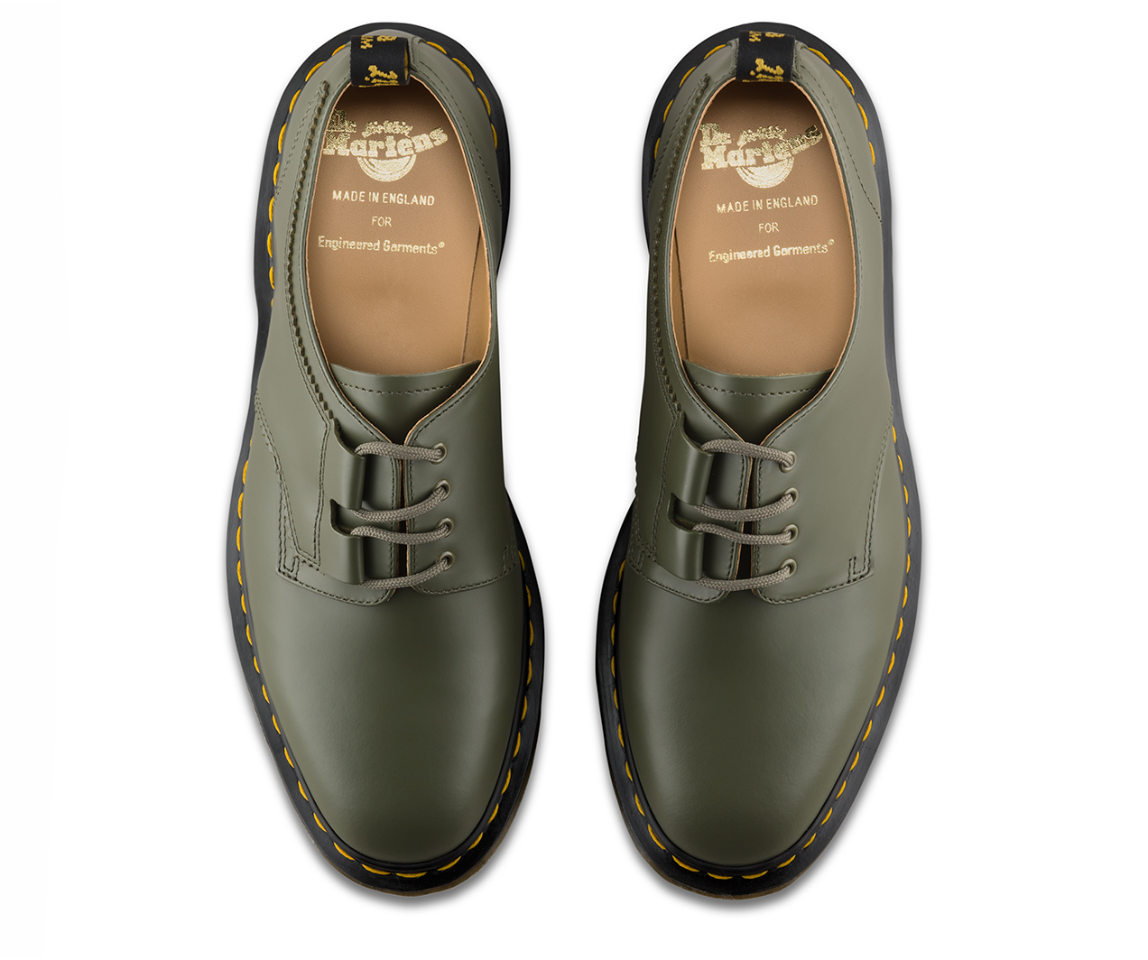 + Dr Martens Leather Derby Shoes - BlackEngineered Garments gLL1AK2