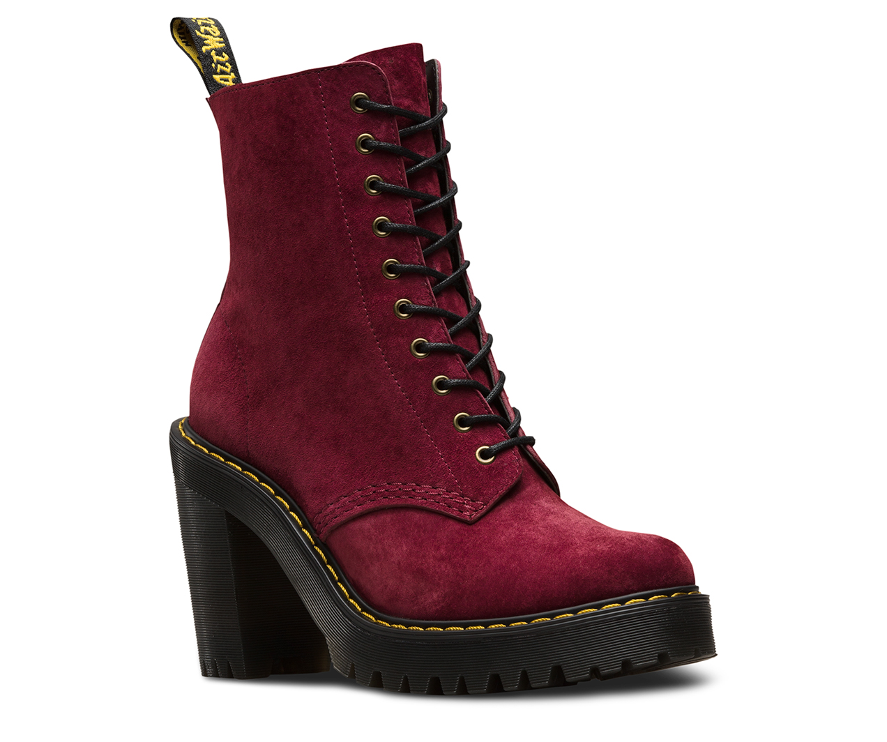 Boots Dr Martens Kendra Wine Soft Buck PHc9gOW