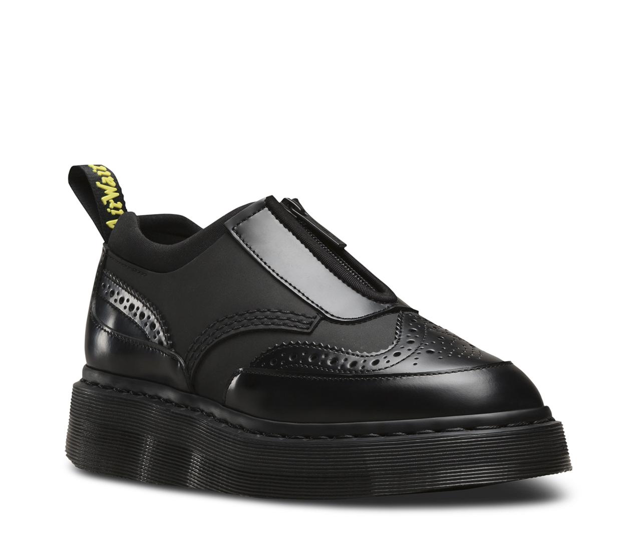 Dr.Martens Womens Resnik Black Leather Shoes 41 EU Dr. Martens Verkauf Erschwinglich qersMrv