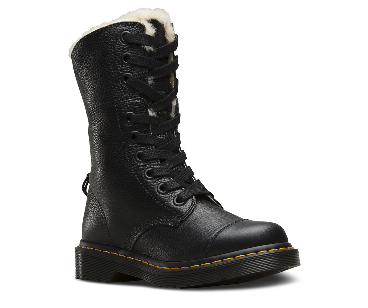 Dr. Martens Aimilita Fl Black Aunt Sally 22694001, Boots, Noir, 36 EU