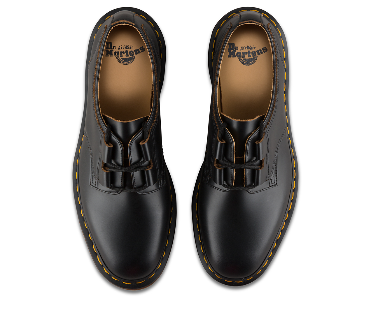 Dr Martens Chaussures Henton Ghillie En Noir Lisse - Noir luLr05fba