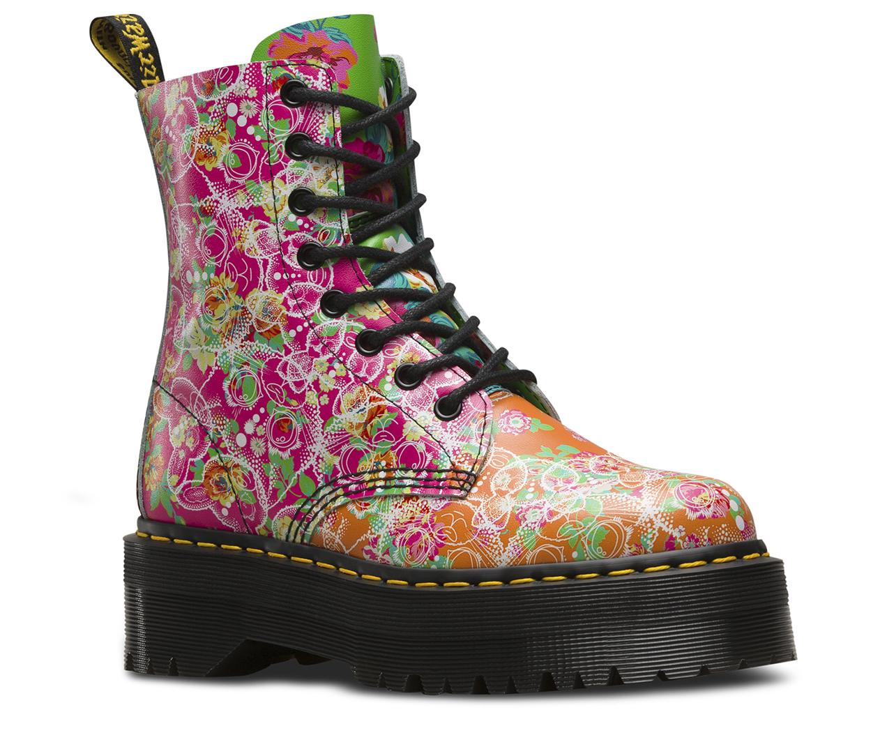 Dr.Martens Womens Jadon Daze Multi Leather Boots 39 EU Wr8qqE