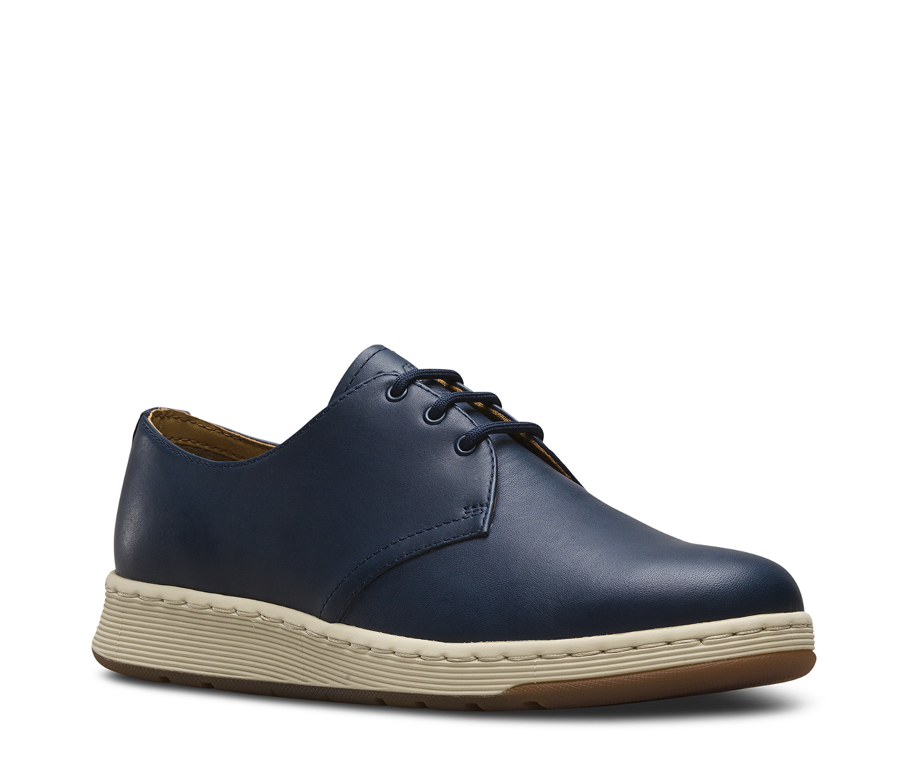 Dr. Martens Womens Cavendish 3-Eyelet Black Leather Shoes 39 EU CYCEUV