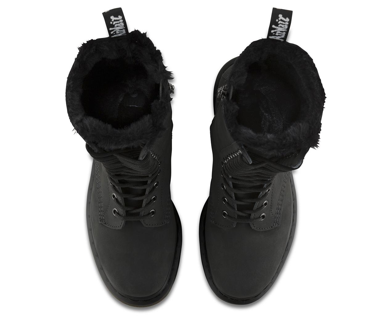 fur lined 1b99 women 39 s boots official dr martens store. Black Bedroom Furniture Sets. Home Design Ideas
