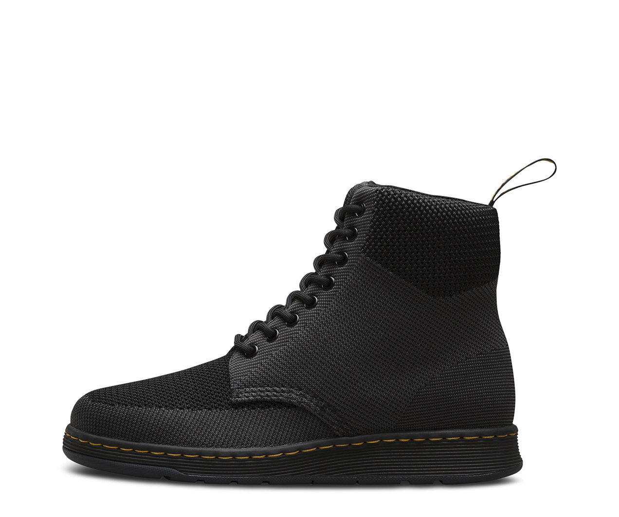 Dr. Martens Rigal 8-Eye Boot, Size: 3 M, Black/Anthracite Knit Textile