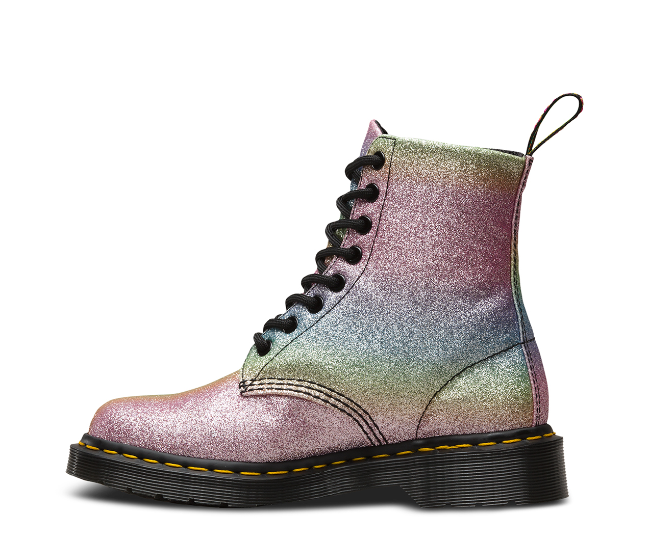 rainbow glitter pascal women 39 s boots official dr martens store. Black Bedroom Furniture Sets. Home Design Ideas