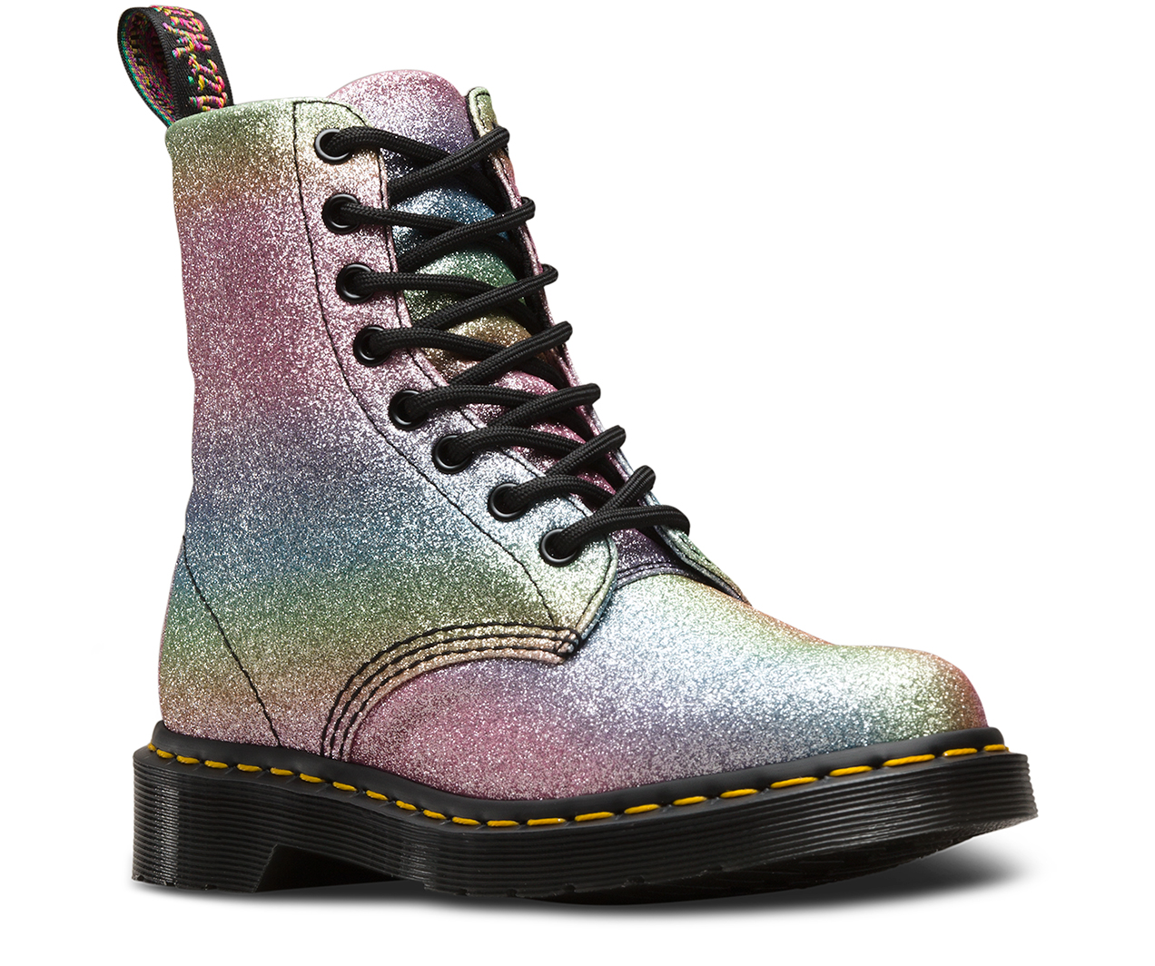 1460 pascal rainbow glitter women 39 s boots the official us dr martens store. Black Bedroom Furniture Sets. Home Design Ideas
