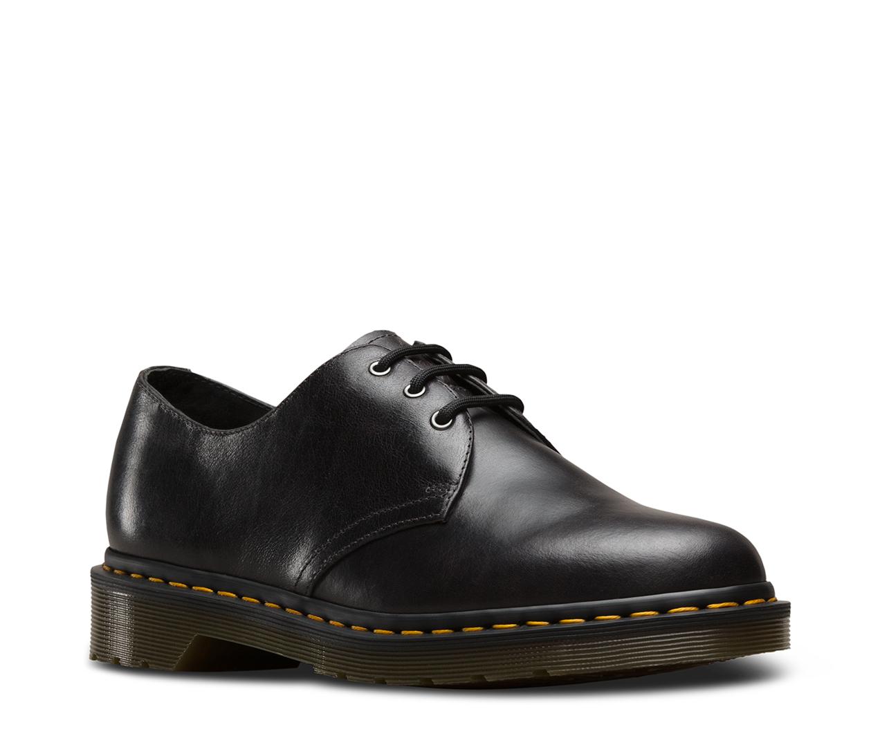 Dr.Martens Mens 1461 3 Eyelet Gunmetal Leather Shoes 41 EU J0AIxd8m