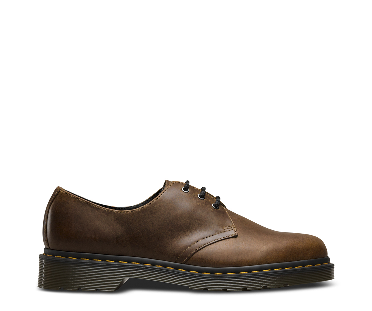Dr.Martens Mens 1461 3 Eyelet Gunmetal Leather Shoes 46 EU Mm74An
