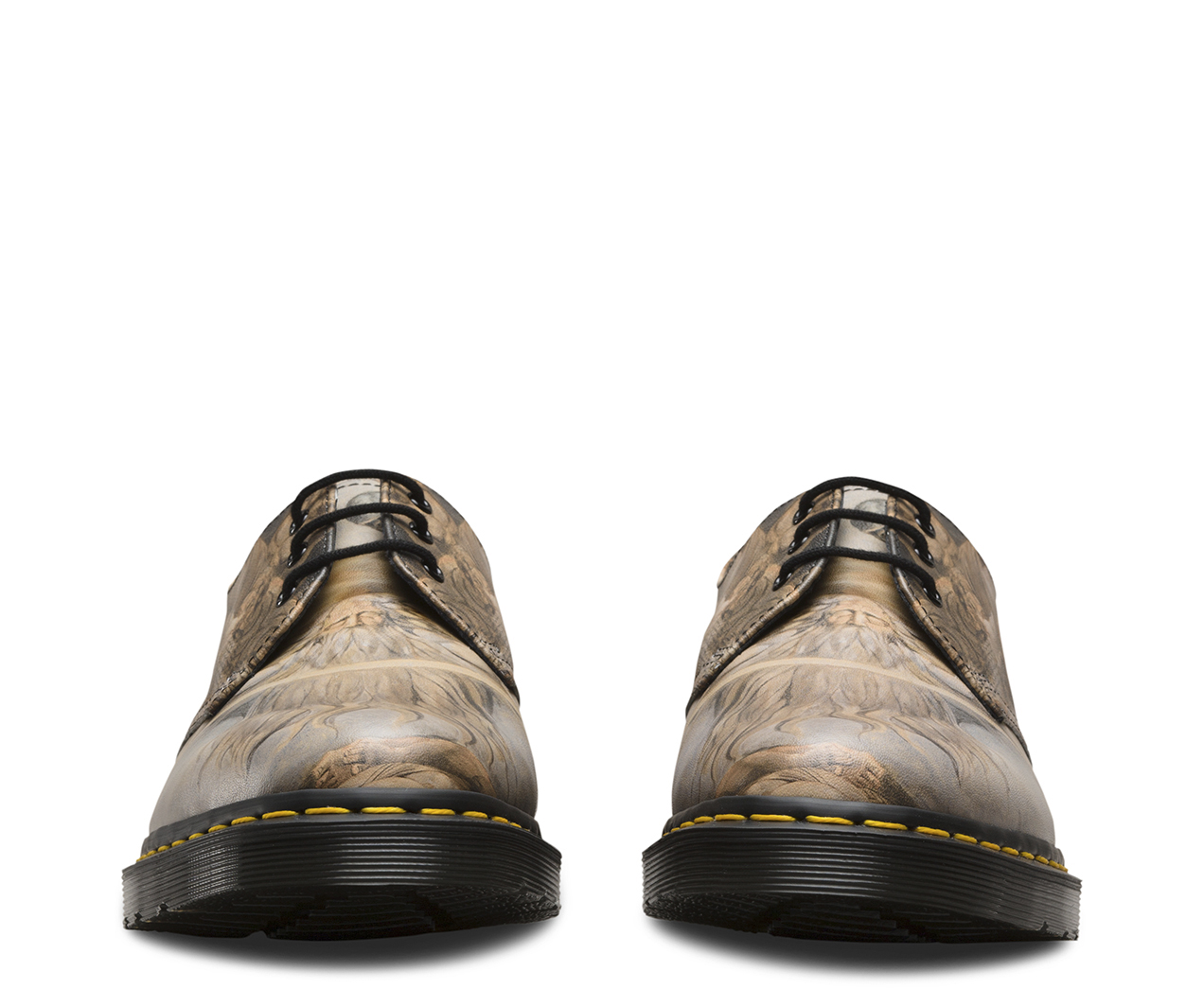 Dr Martens Unisexe 1461 William Blake Cuir 3 Yeux Lacer Blanc Chaussures - Esprit - 38 Eu EUDLBXB