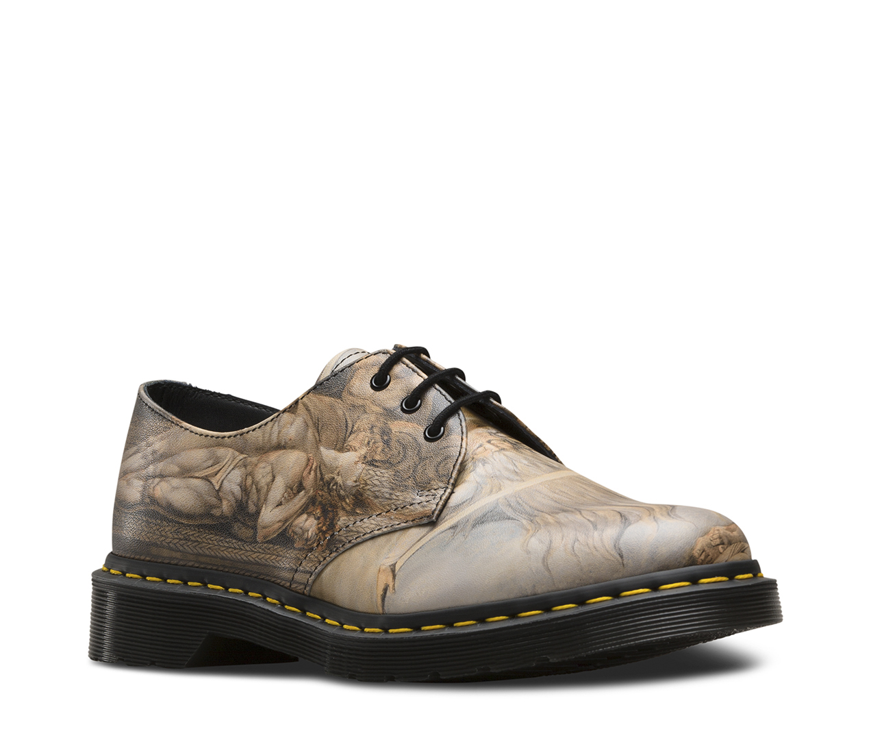Dr Martens Unisex 1461 William Blake 3-Eye Leather Lace Up Shoe White-White-5 Size 5 J9gC27v8