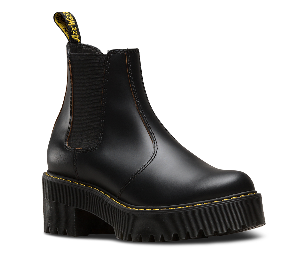 Dr. Martens Women's Rometty Vintage Smooth Leather Heeled Chelsea Boots - - UK 3 DAHGQY