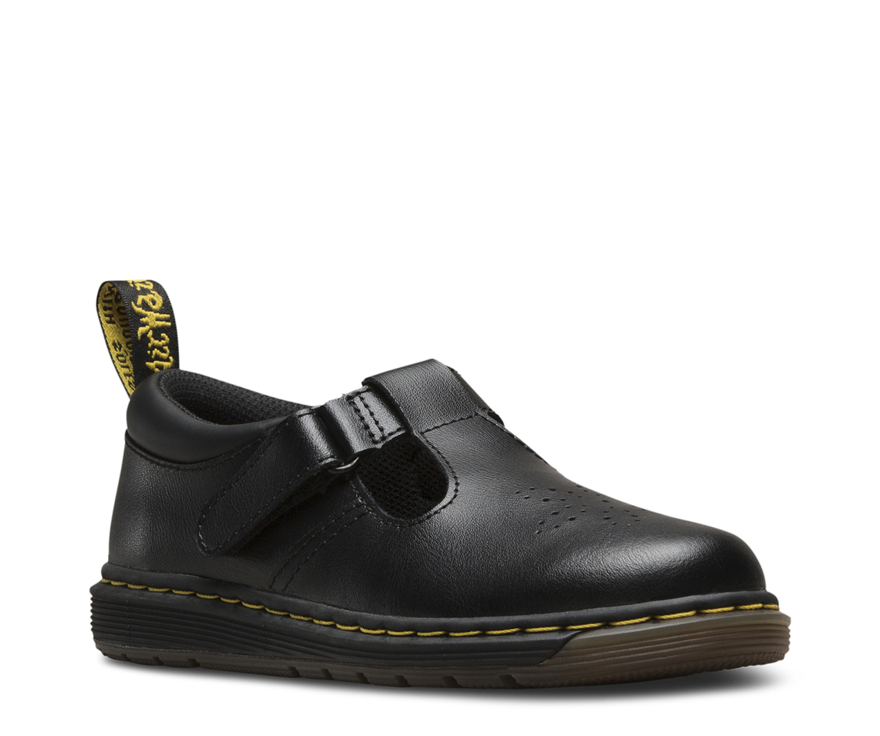 Dr. Martens Youth Polley T Lamper Leather Buckle Shoe Black-Black-4 (Older) Size 4 (Older) 8VioFN