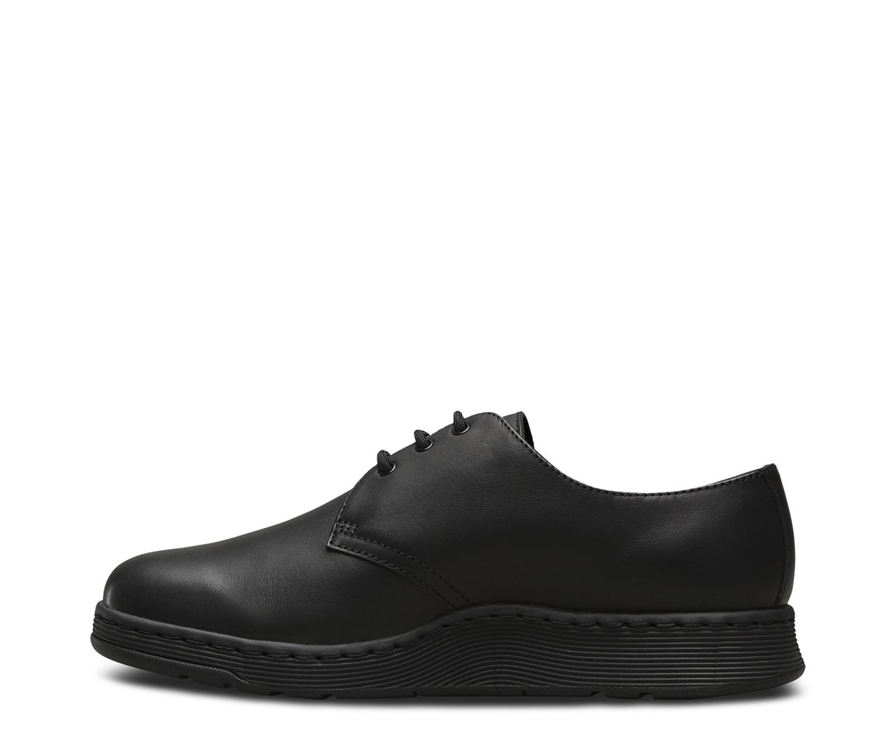 Dr. Martens Womens Cavendish 3-Eyelet Black Leather Shoes 39 EU ivFU7qs