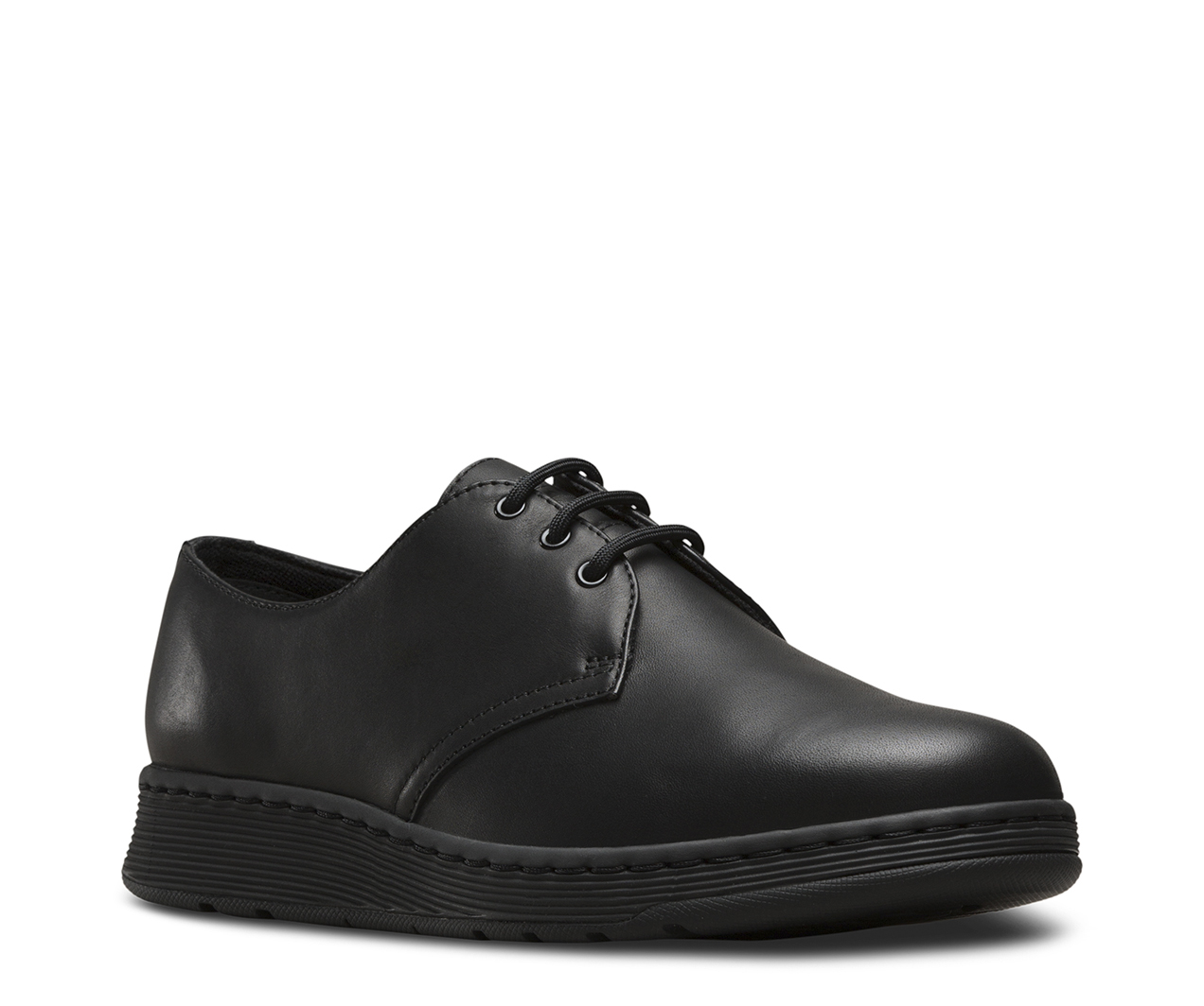 Mens Dr Martens Black  Mono Shoes