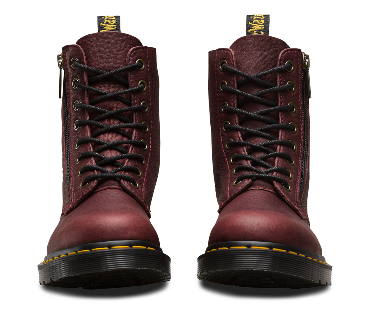 Dr. Martens1460 PASCAL ZIP 8 EYE BOOT - Lace-up boots - tan grizzly ixuseF9w