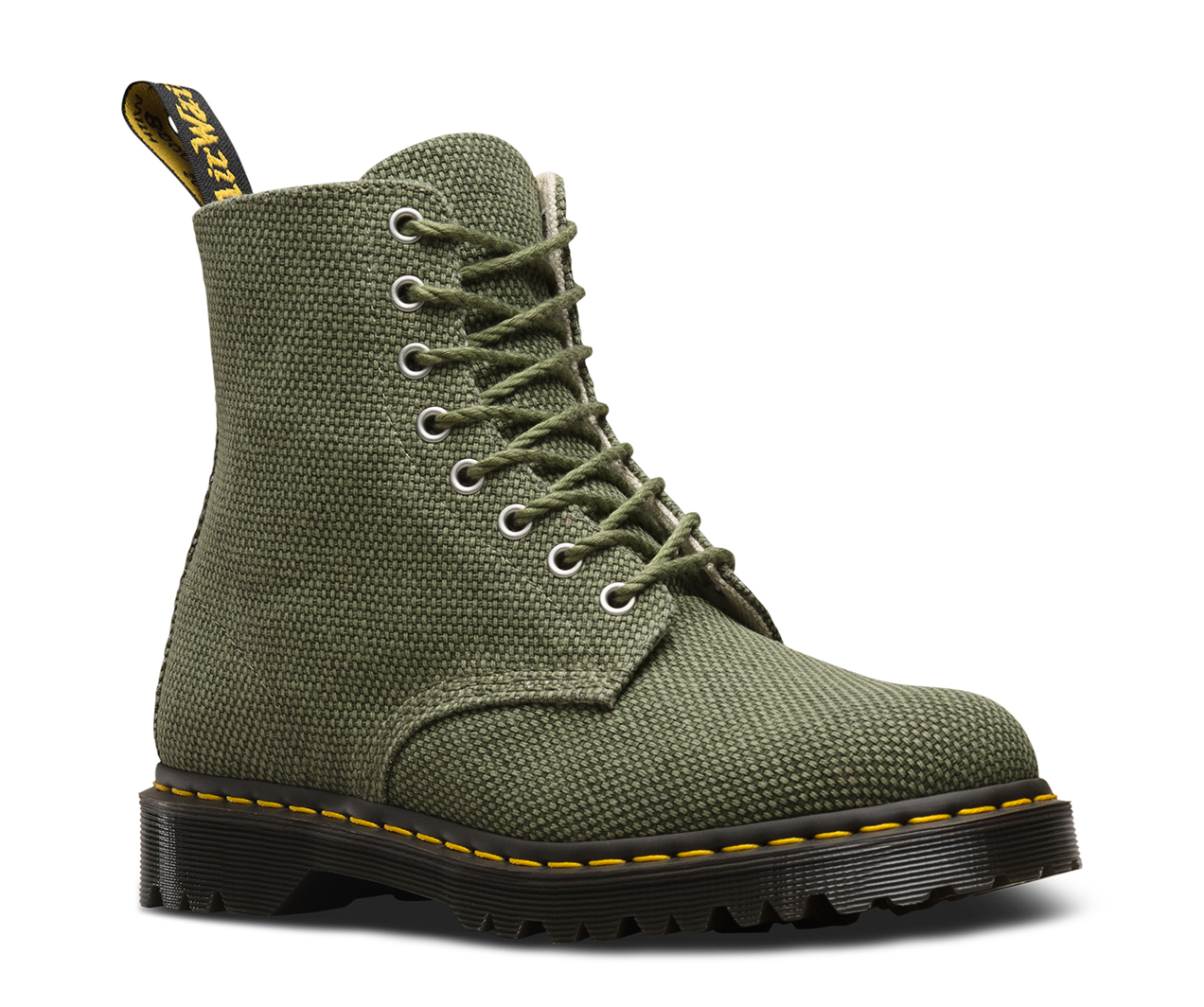 Pascal 8-Eye Boots In Heavy Canvas - Black Dr. Martens Clearance Wholesale Price Cheap Fast Delivery li9nxR7uW