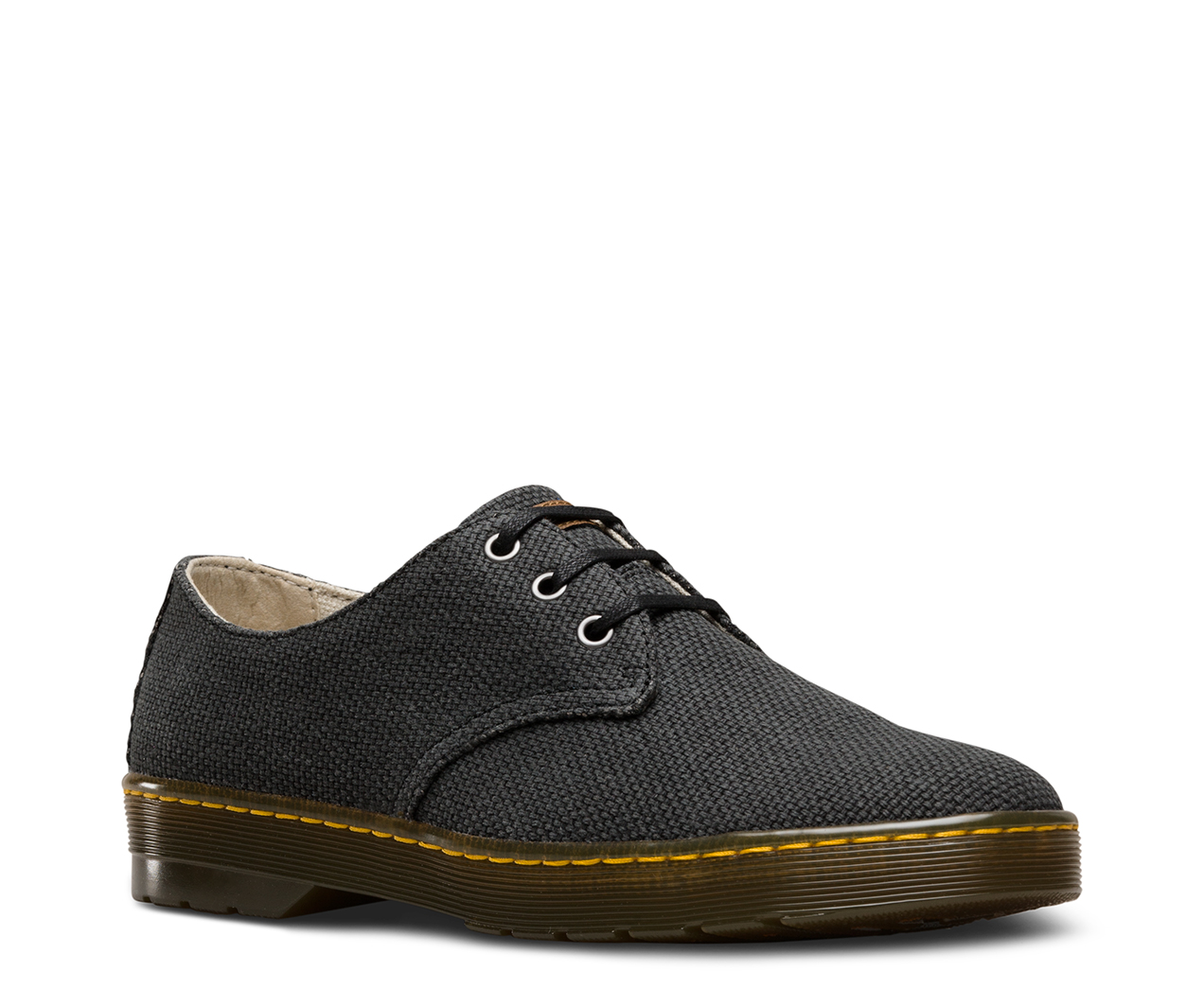 Outlet Mens Dr Martens Delray Shoe Dark Brown Canvas Casual