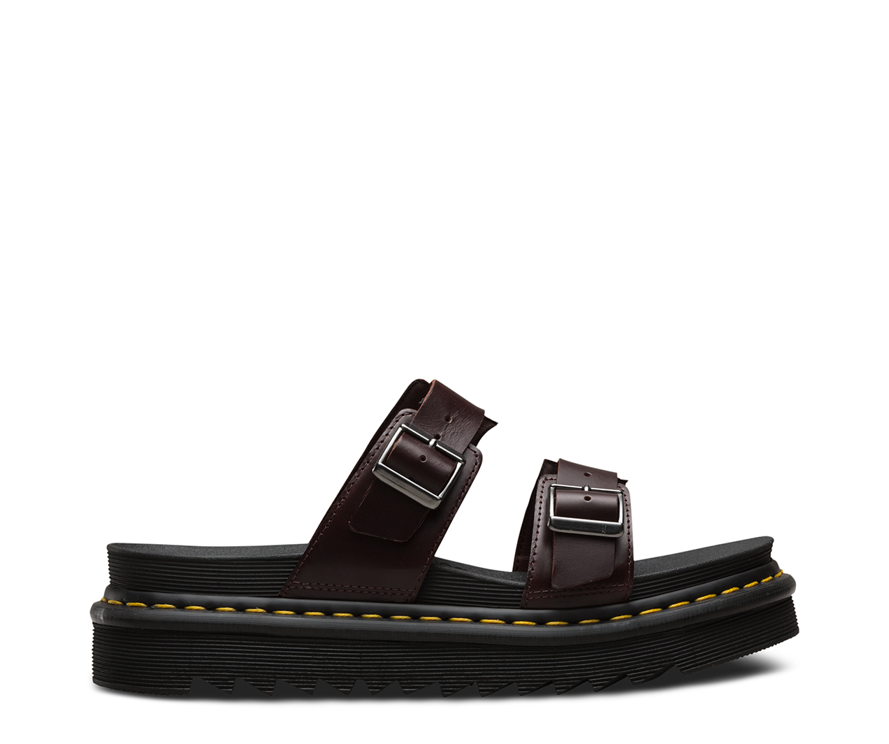 Dr. Martens Men's Myles Brando Leather Double Strap Sandals - - UK 9 1LvD4V