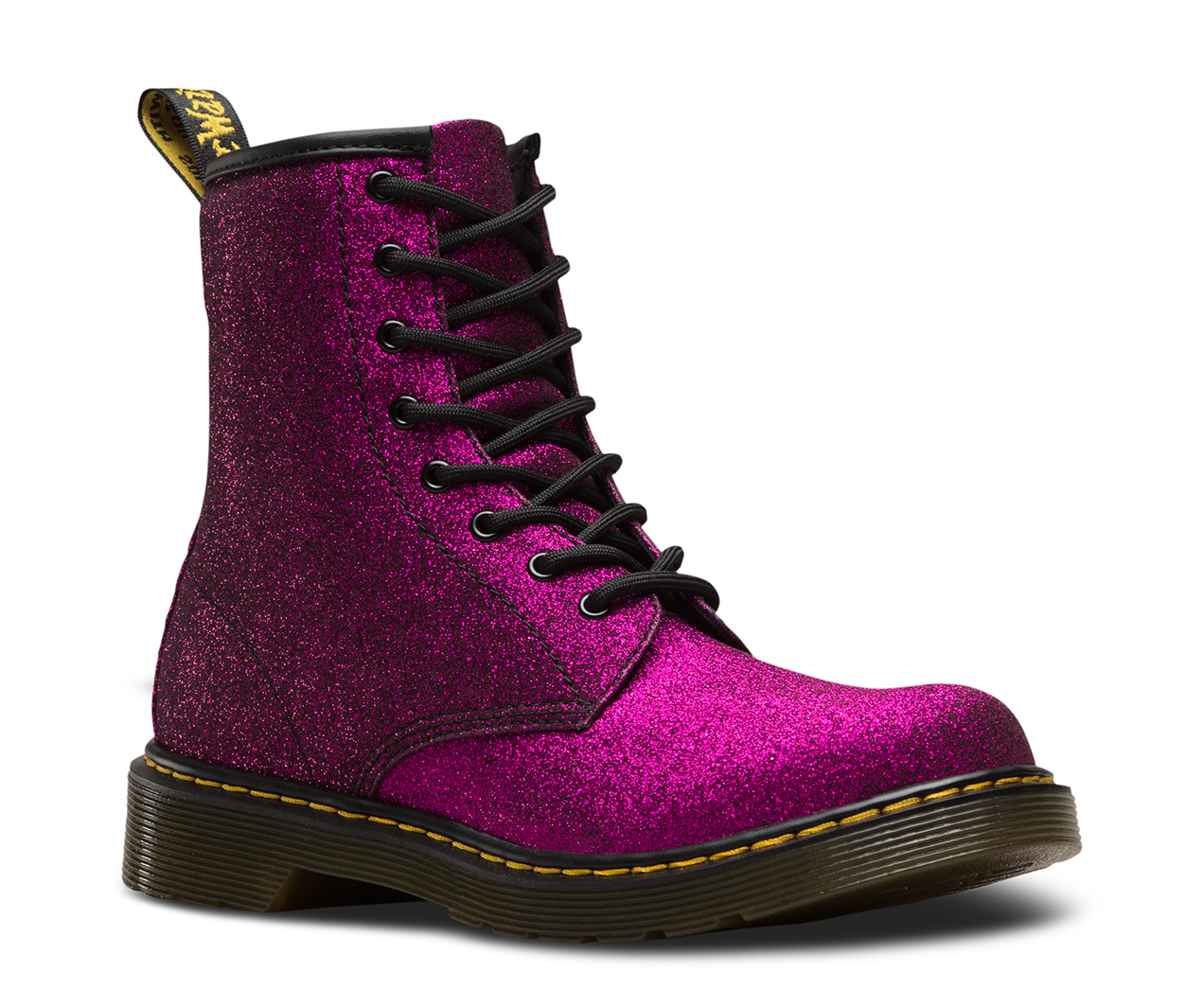 Clearance Supply From China Online Dr. Martens 1460 Glitter Boot Toddler(Infant/Toddler Girls') -Dark Pink Coated Glitter Free Shipping Footaction Free Shipping Factory Outlet Huge Surprise Online y6o2y4YSk