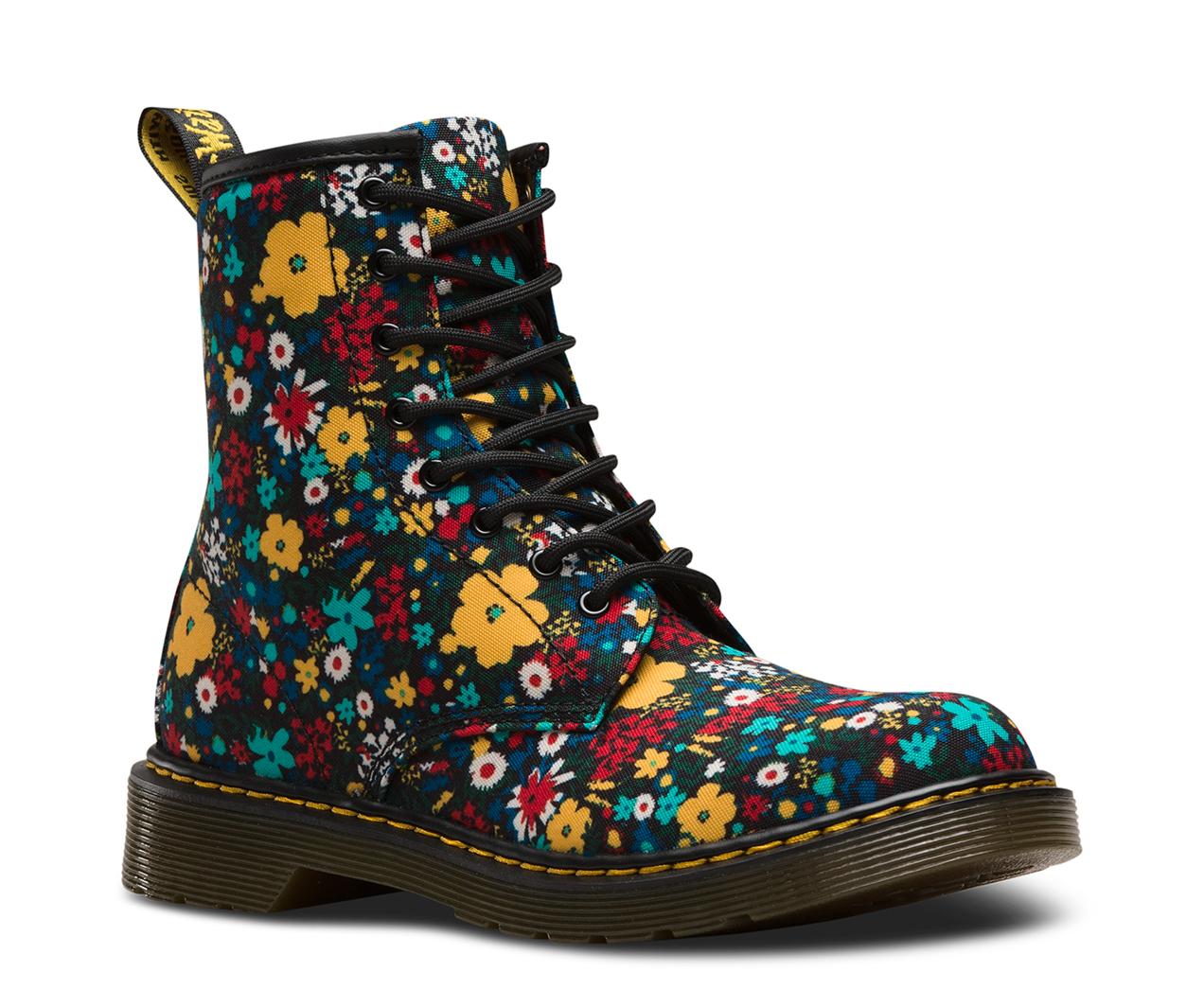 1460 Dr. Marten Floral Canvas Boots