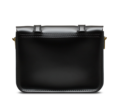 "7"" Leather Satchel BLACK AB017002"