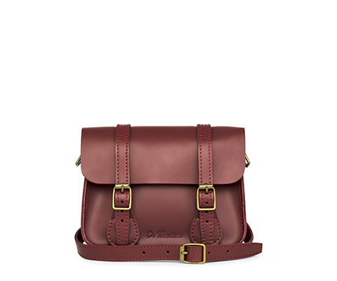 "7"" Leather Satchel CHERRY RED AB017600"