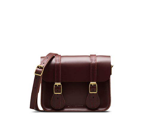 "7"" Leather Satchel CHERRY RED AB017602"
