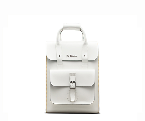 Small Leather Backpack WHITE AB020100
