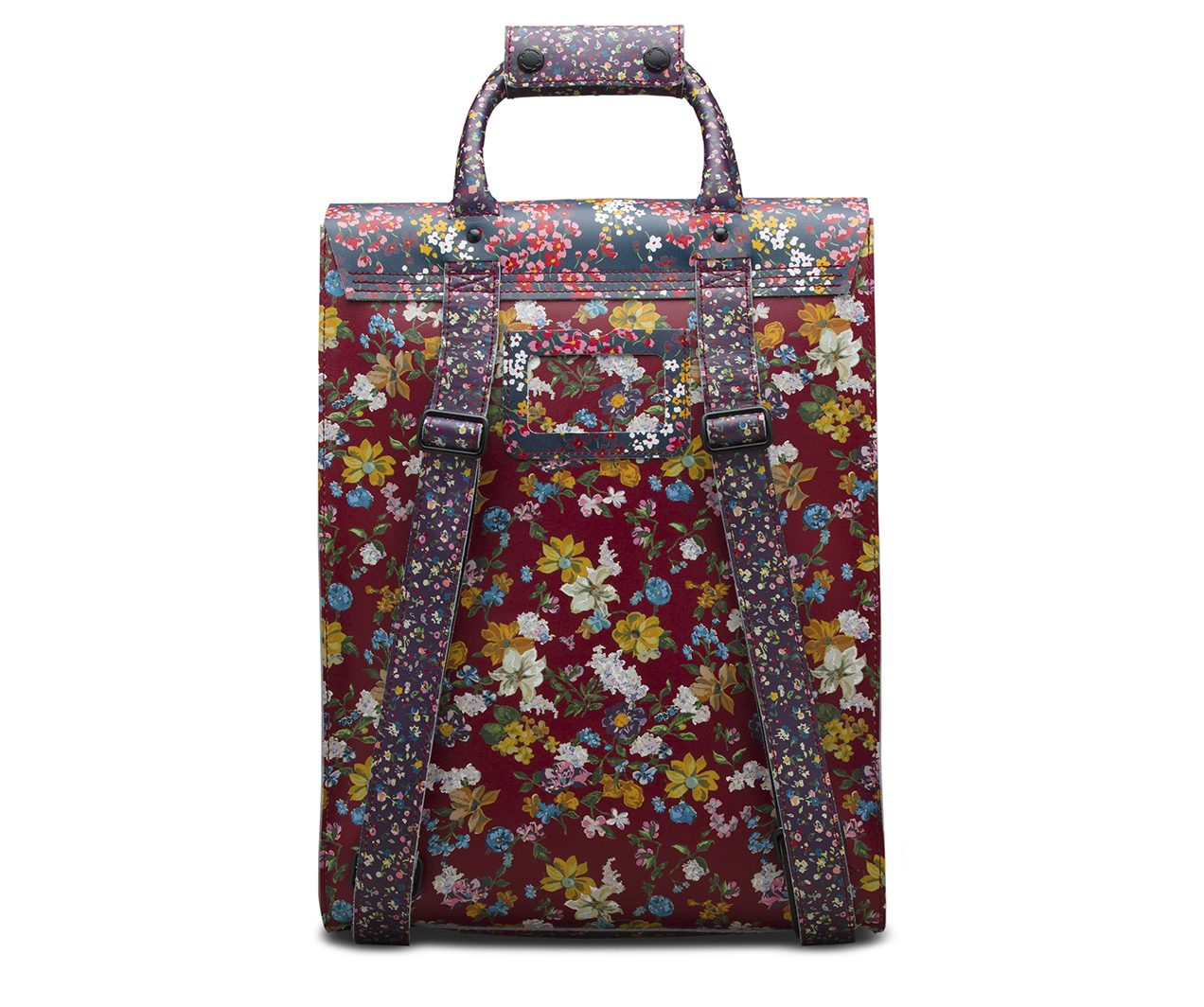 Floral Clash Leather Backpack