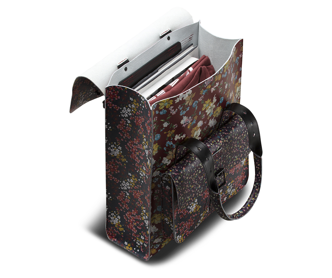 Floral Clash Leather Backpack Bags Amp Satchels Official