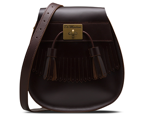 BRANDO LEATHER TASSEL SADDLE BAG