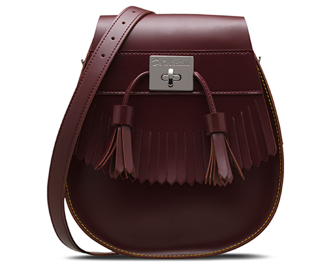 Tassled Saddle Bag CHERRY RED AB021601