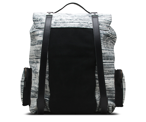 Big Slouch Backpack WHITE+BLACK AB025101