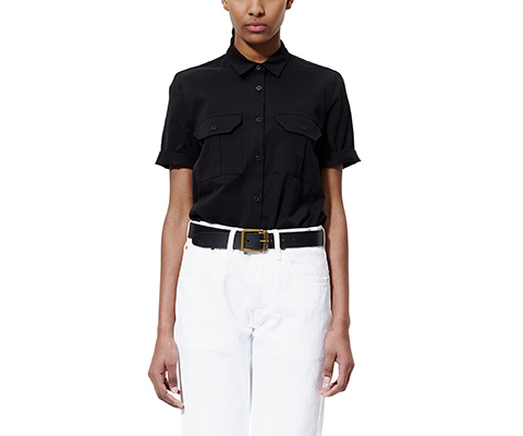 WOMENS UTILITY SHIRT BLACK AC277001