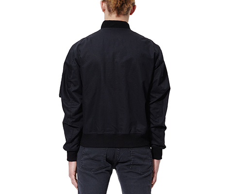 UNISEX COTTON BOMBER BLACK AC409002