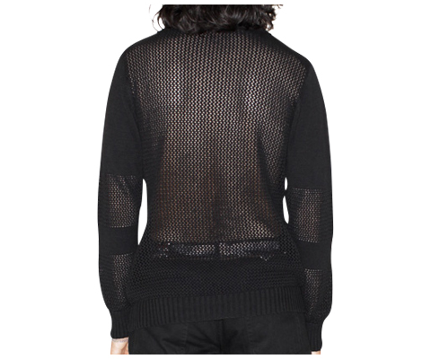 UNISEX BLOCKED SHOULDER JUMPER BLACK AC413002