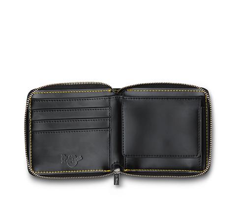 Men's Fold Zip Wallet BLACK AC509001. Men's Fold Zip Wallet CHERRY RED  AC509601