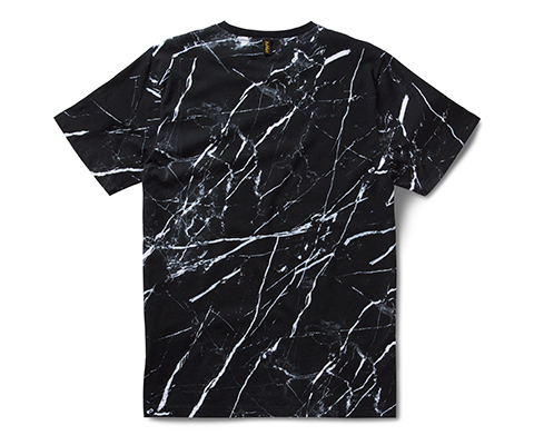 Marble Print T-Shirt MARBLE PRINT ON BLACK AC555001