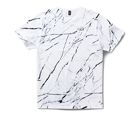 Marble Print T-Shirt MARBLE PRINT ON WHITE AC555101