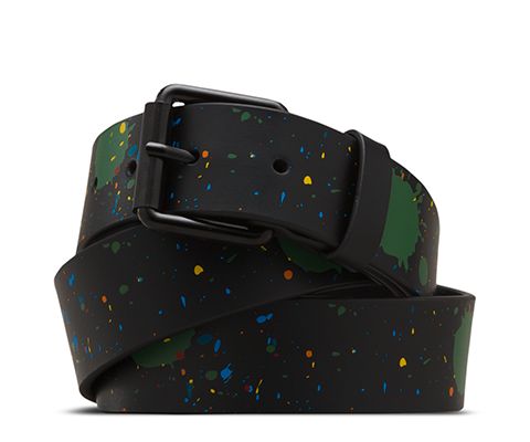 SPLATTER LEATHER BELT