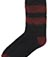 FLUFFY SHORT SOCK BLACK+OXBLOOD AC371002