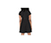 WOMEN'S POPLIN PLEATED DRESS BLACK AC425001