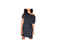 WOMEN'S  MESH SIDE T-SHIRT DRESS BLACK AC428001